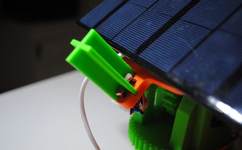Rotating solar panel