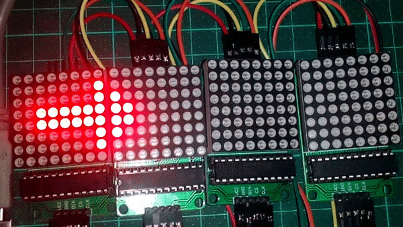 Arduino και Led Dot Matrix MAX7219